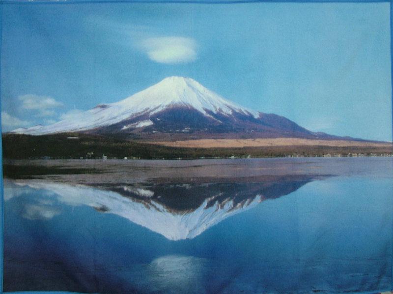 逆さ富士と笠雲-1