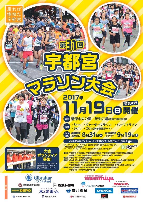 宇都宮マラソンポスター