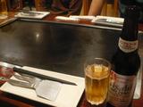 鉄板と、ノンアルビール