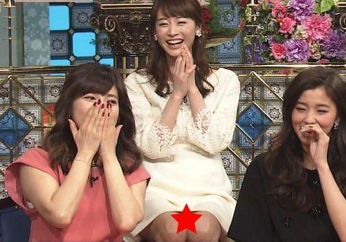 新井恵理那、「踊る!さんま御殿!!」でパンチラ放送事故wwwwww