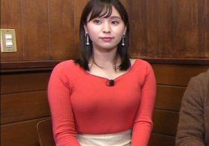 角谷暁子アナ(25)、おっぱいプルンプルン激エロwwwwwww【GIFあり】
