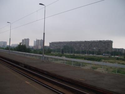 ノヴィ・ベオグラード駅より眺める