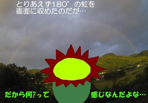 180度の虹