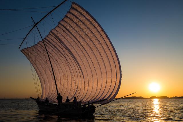 帆引き船13
