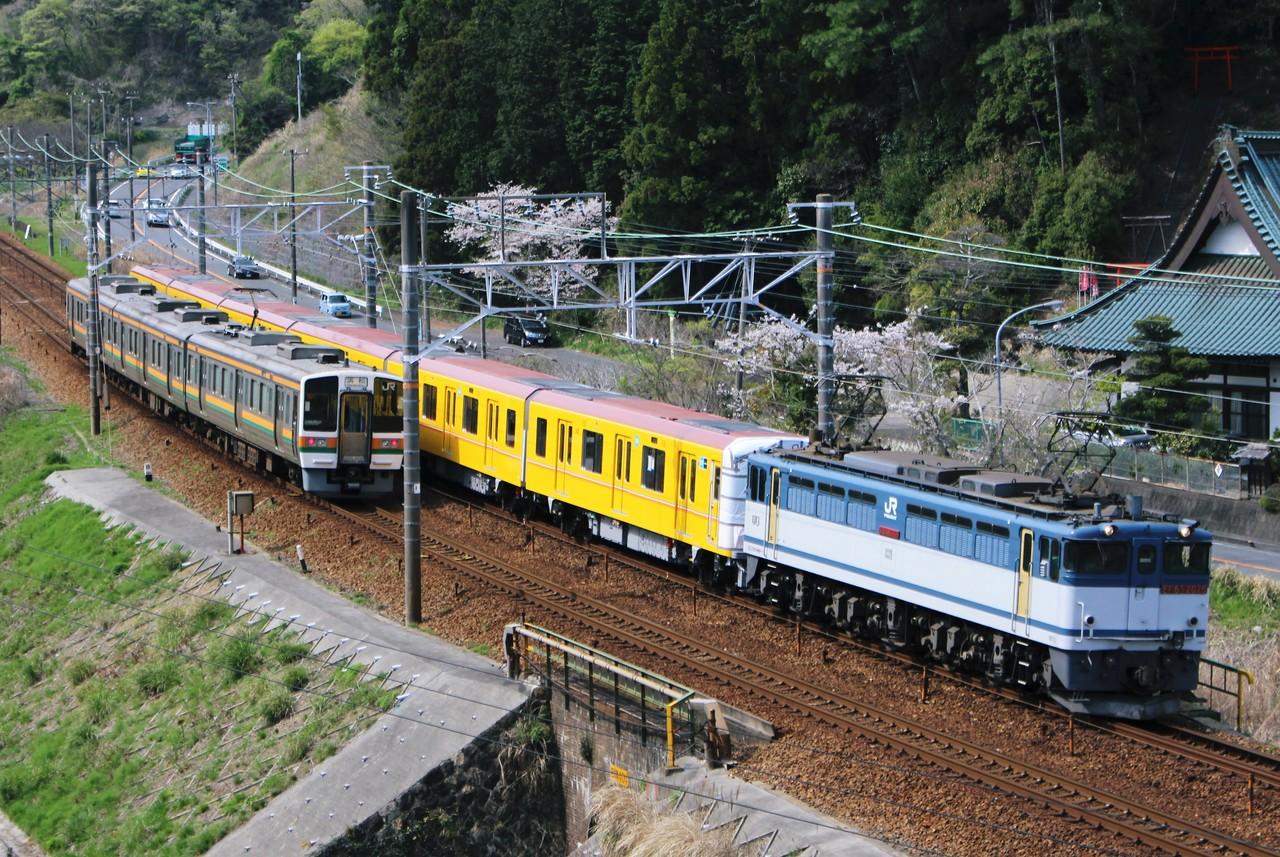 東海道本線 45 1 東京メトロ1000系f1132編成甲種8862レ ef65 2076