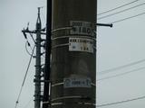 北陸の電柱