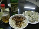 牛肉麺、餃子