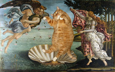 fat-cat-photoshopped-into-famous-artworks-14