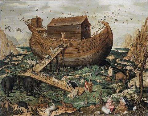 763px-Noah's_Ark_on_Mount_Ararat_by_Simon_de_Myle