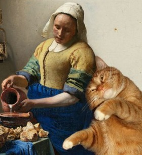 vermeer-the-milkmaid-cat-620