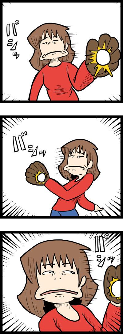 キャッチボールと顔_2