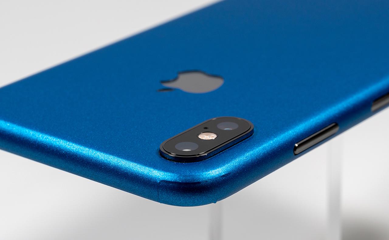 鮮やかなブルーのiPhone XSが完成! Colorware製 iPhone XS