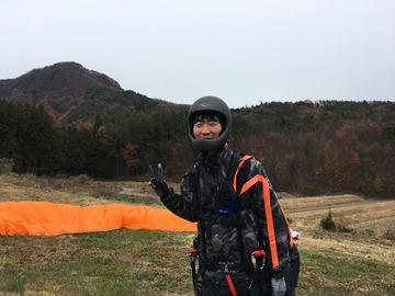 12月3日(月)結城君初飛びできました。