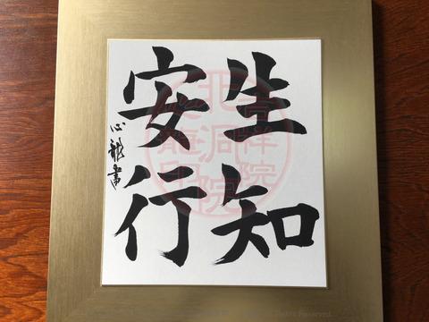 人生訓四字熟語「生知安行」(2)/吉祥院心龍@北洞院流書法道画像01