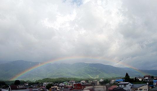 富士見町の虹