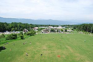 八ヶ岳中央農業実践大学校で気球