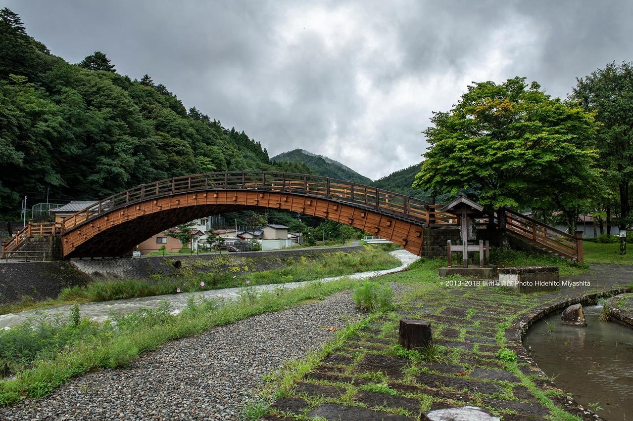 雨上がりの奈良井大橋