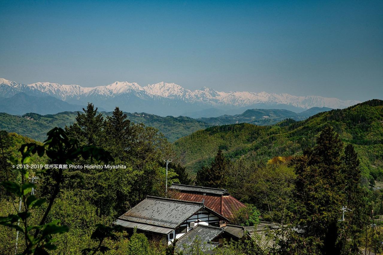 仁科三山を望む