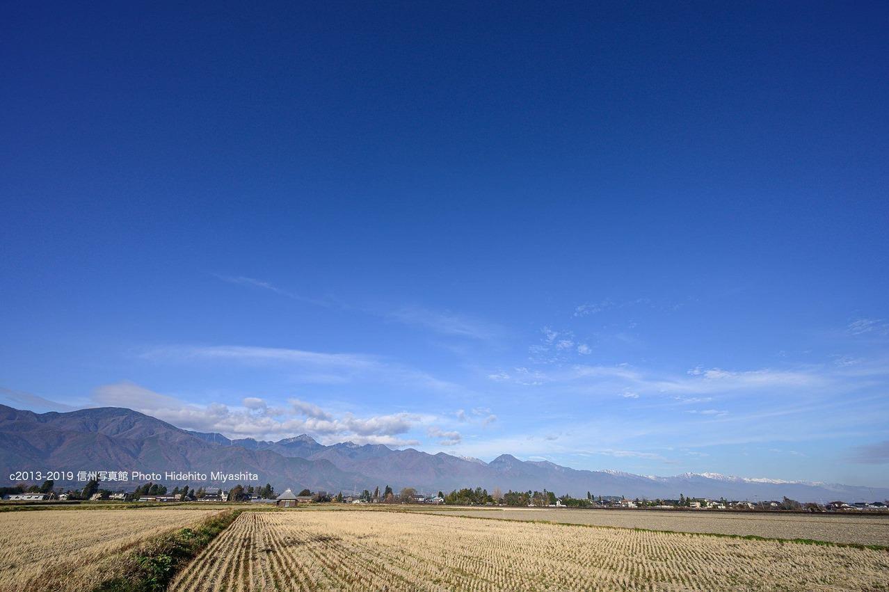 安曇野の青い空