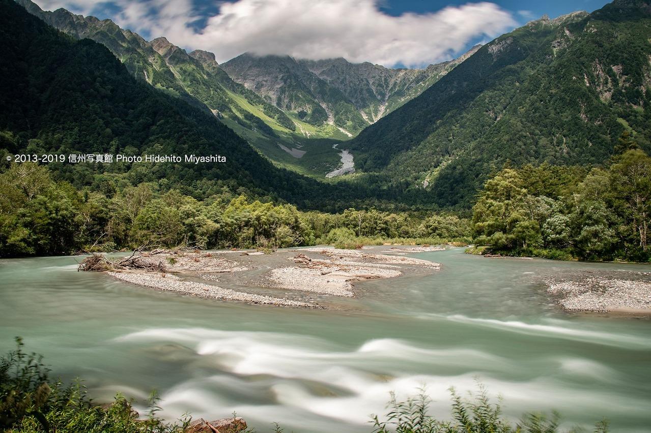 梓川の奔流