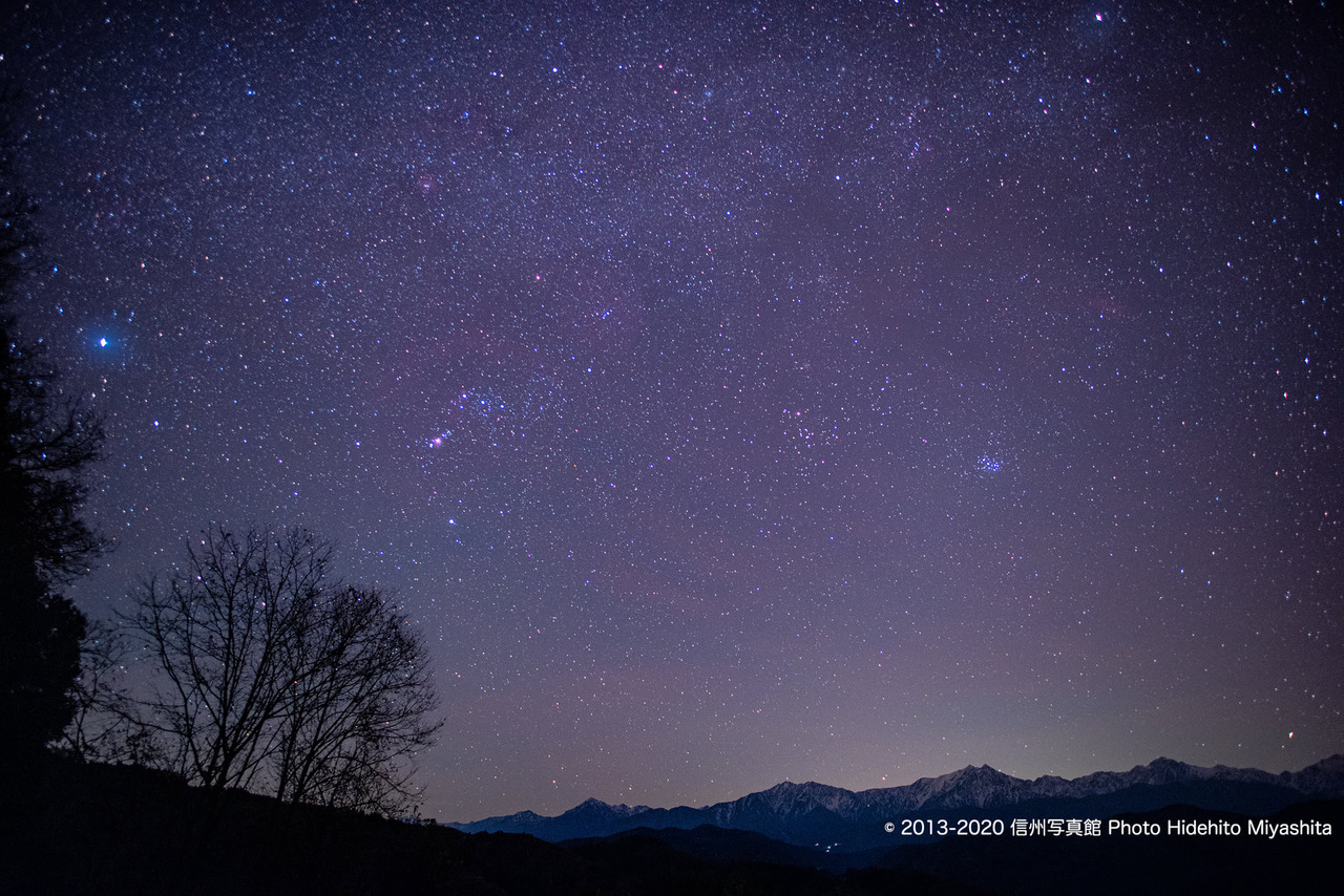 オリオンと仁科三山
