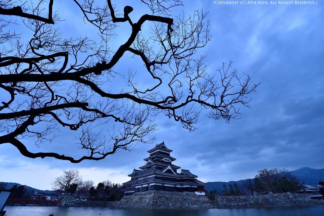 新年の松本城