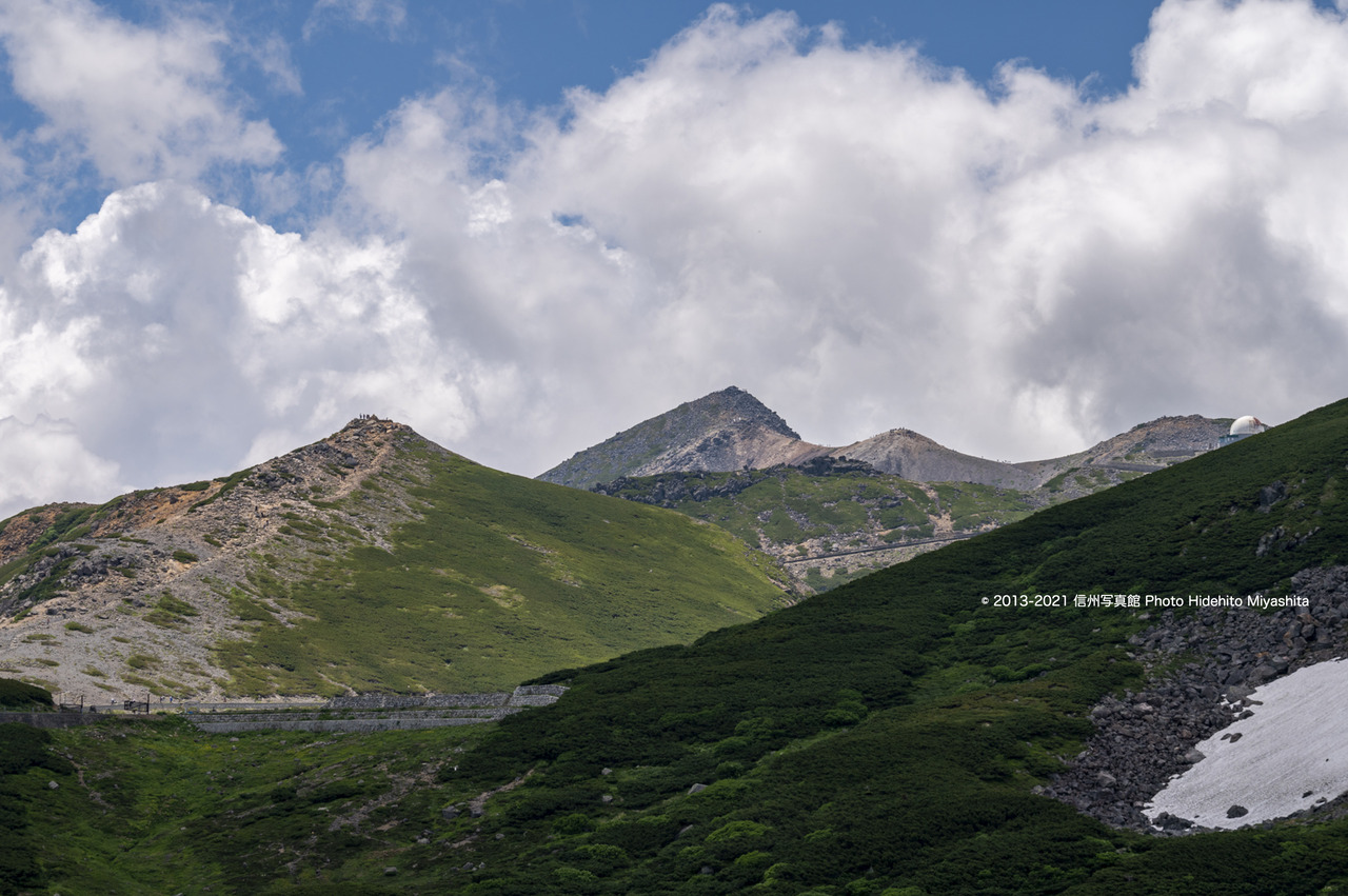雲湧く乗鞍岳20210724-DSC_7149