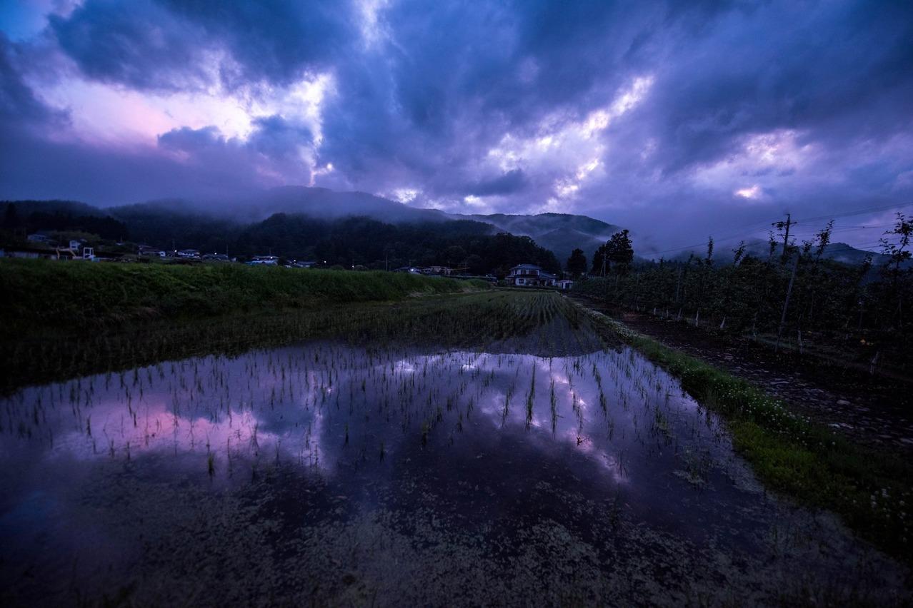 雨上がりの夕景