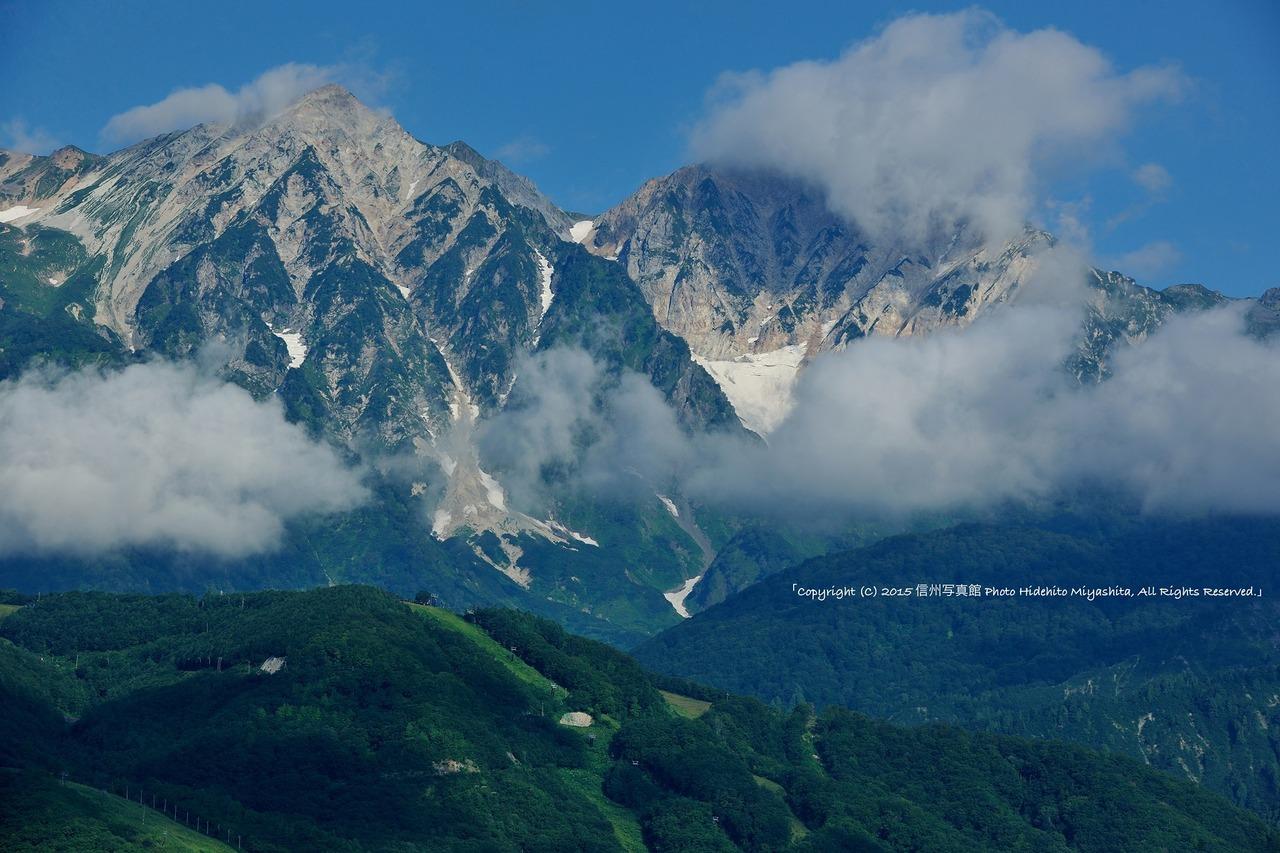 雲と白馬鑓と杓子