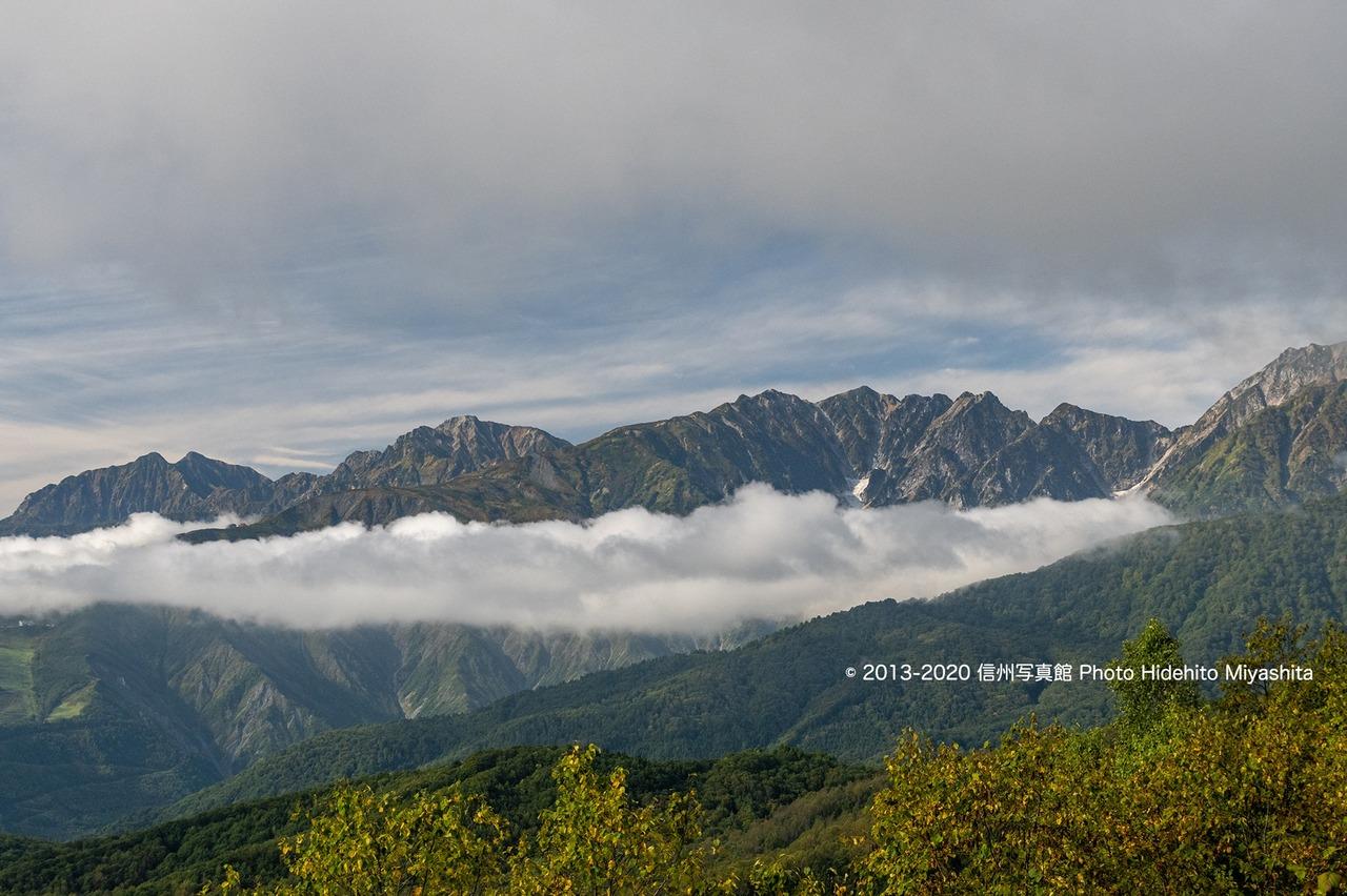 後立山連峰を望む