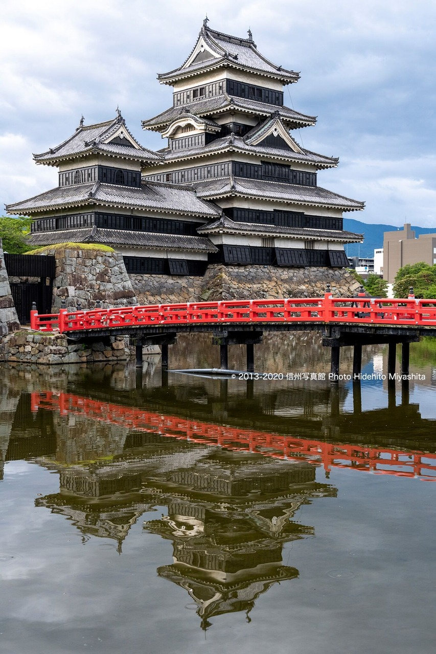 埋橋と松本城
