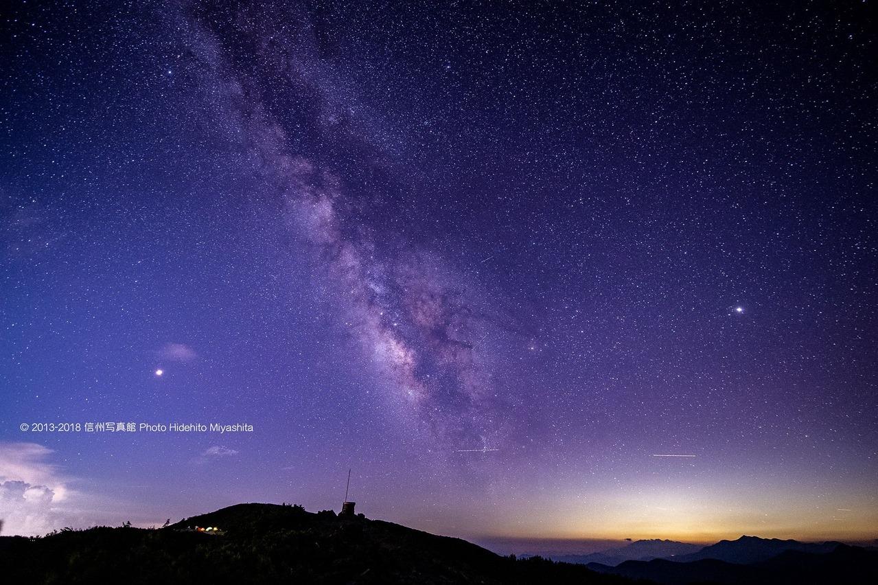 蝶ヶ岳の夜