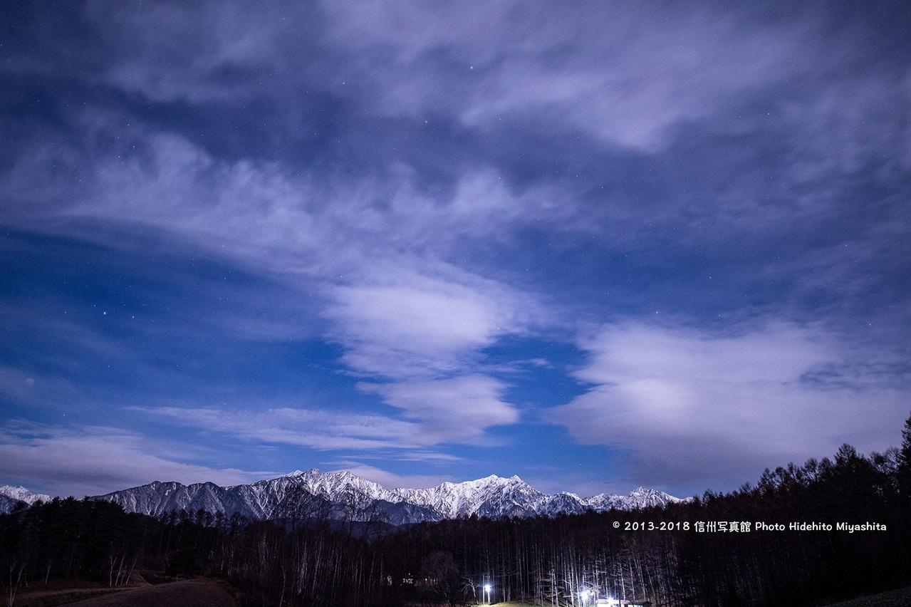 夜の中山高原
