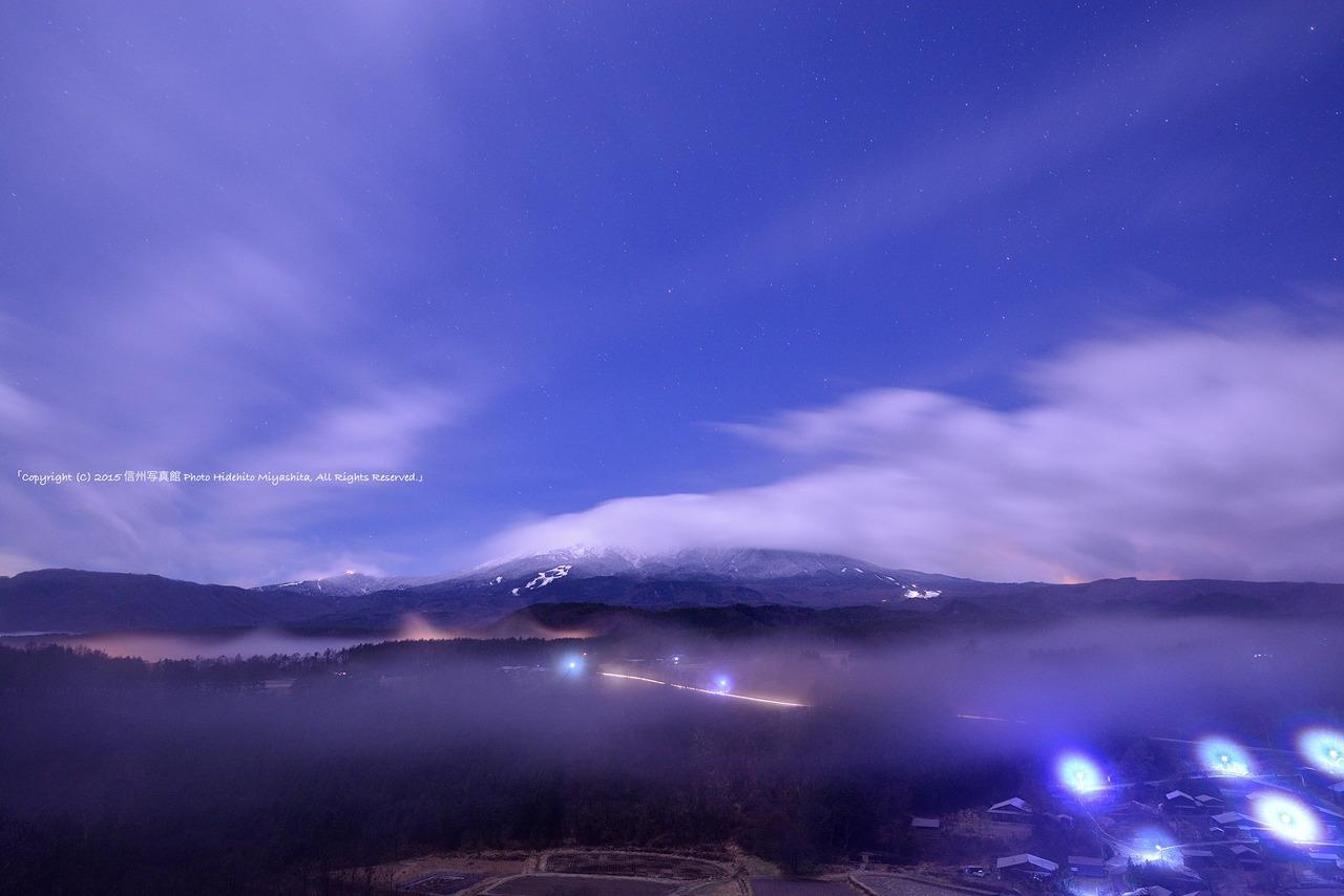 深夜の御嶽山