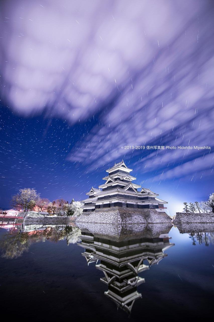 深夜の松本城