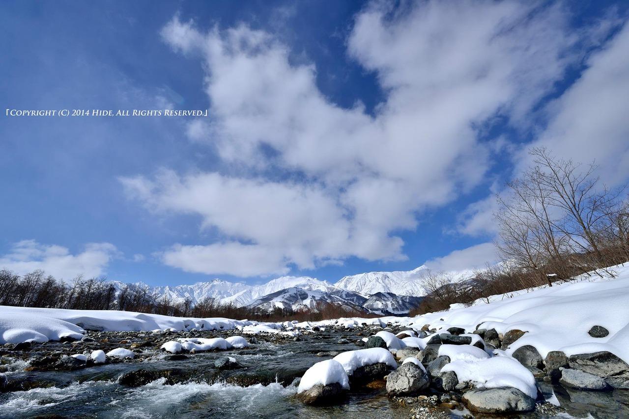 冬の松川より