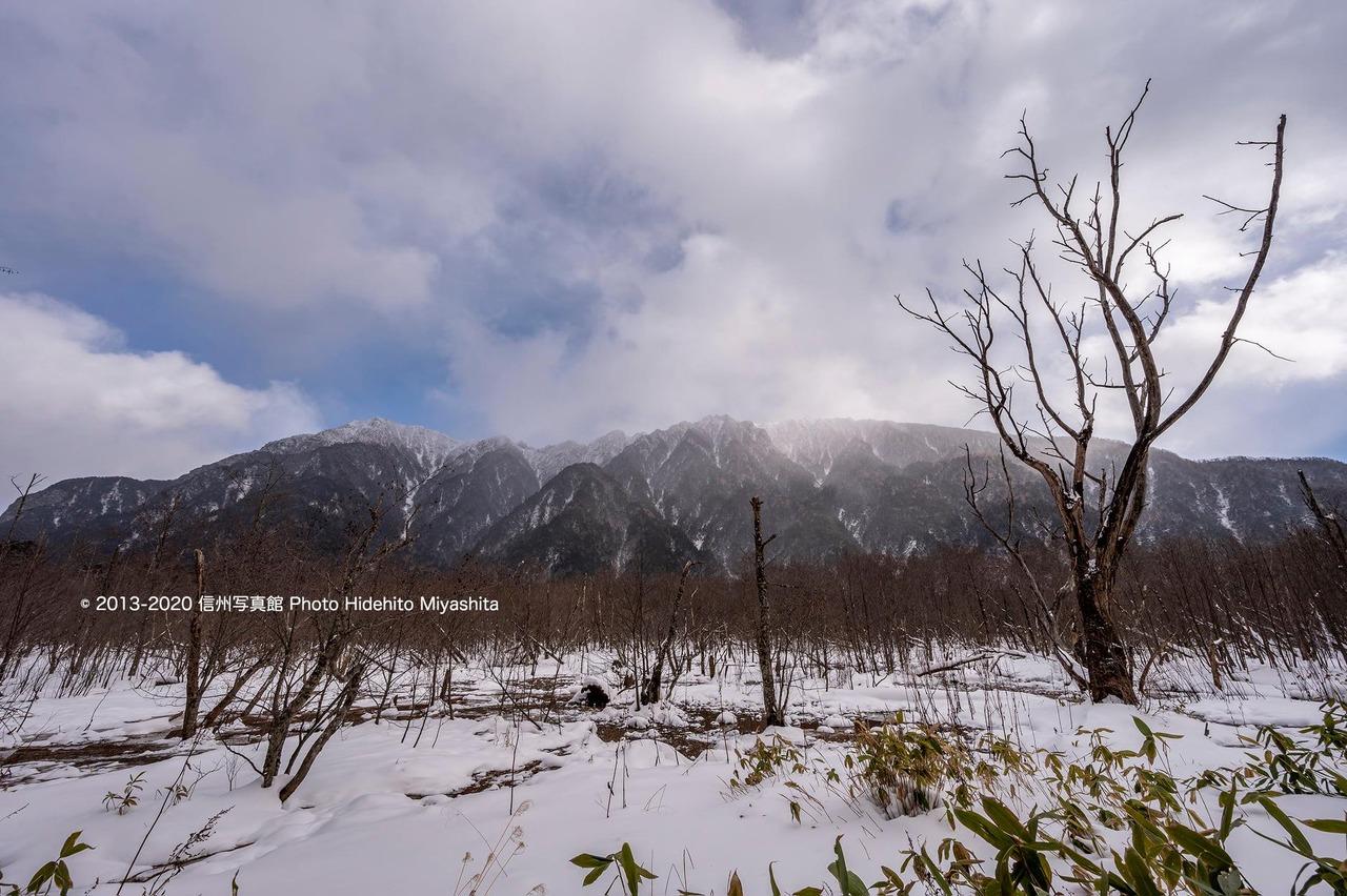 冬の六百山と霞沢岳