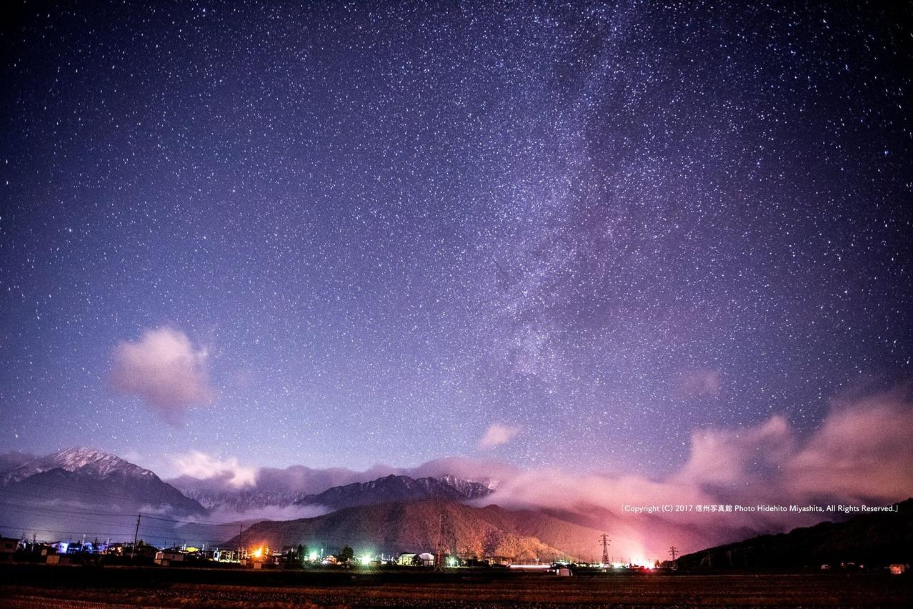 大町、星の夜