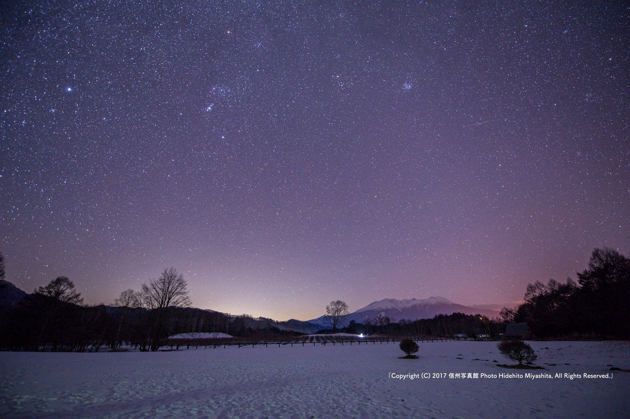 深夜の開田高原