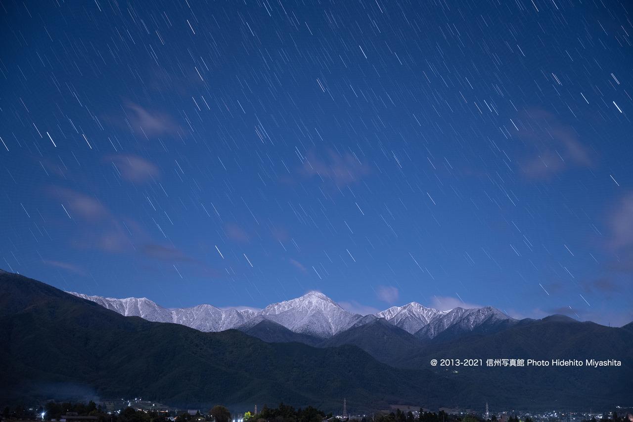 常念岳と星_20211020-_DSC6418