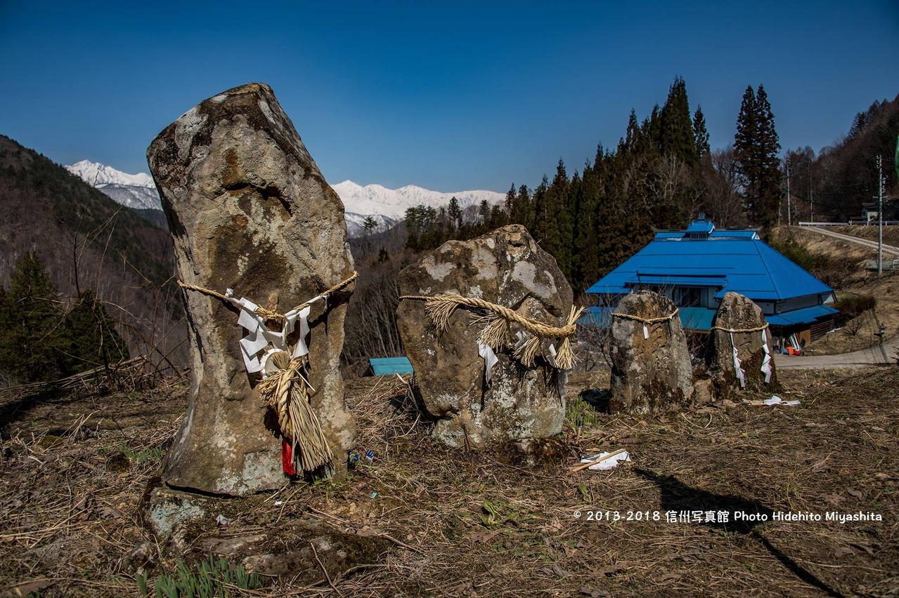 石仏と白馬三山