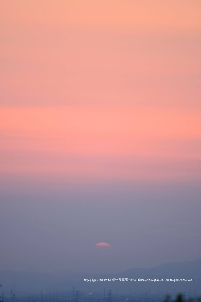 日没のグラデーション