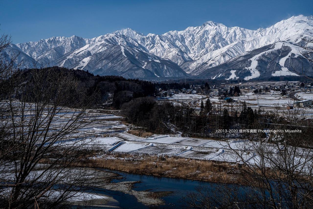 冬の仁科三山