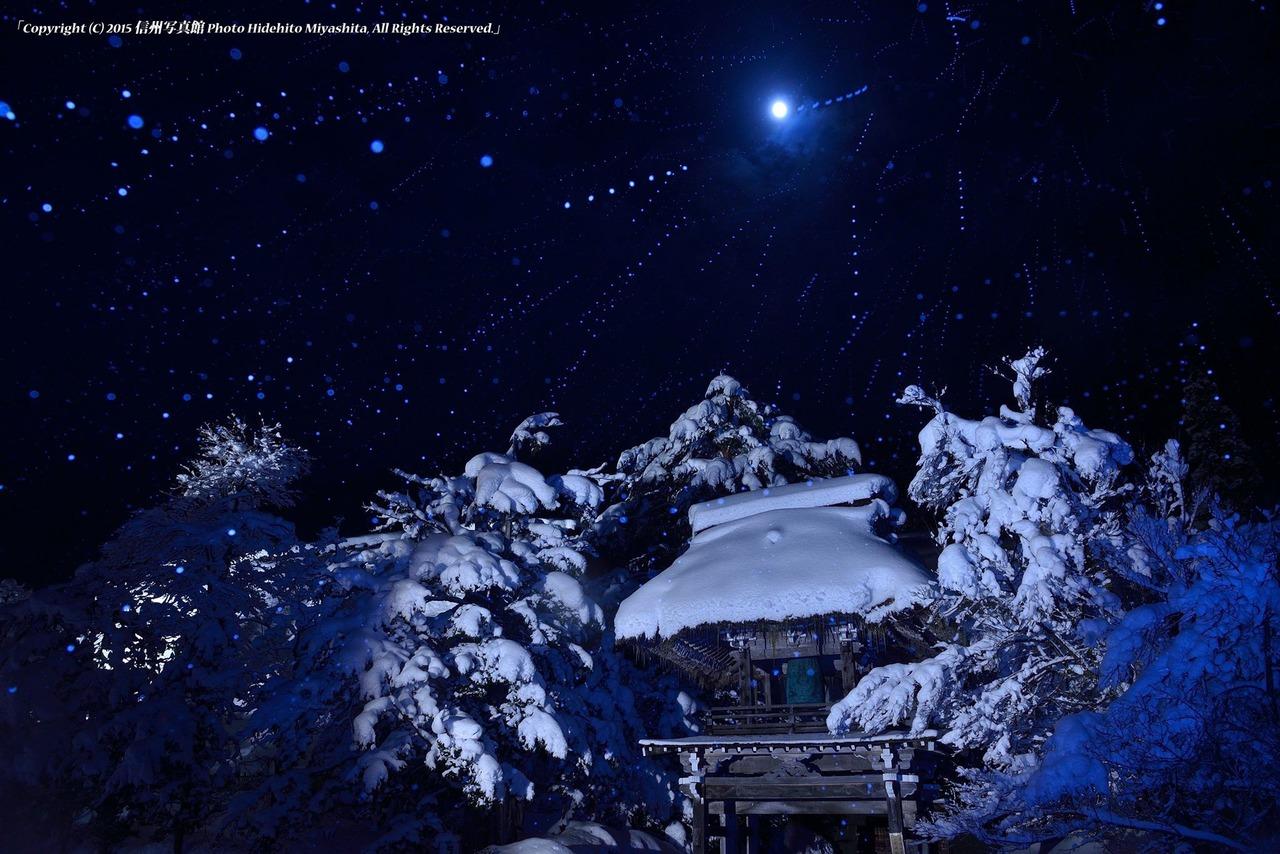 月夜の明善寺