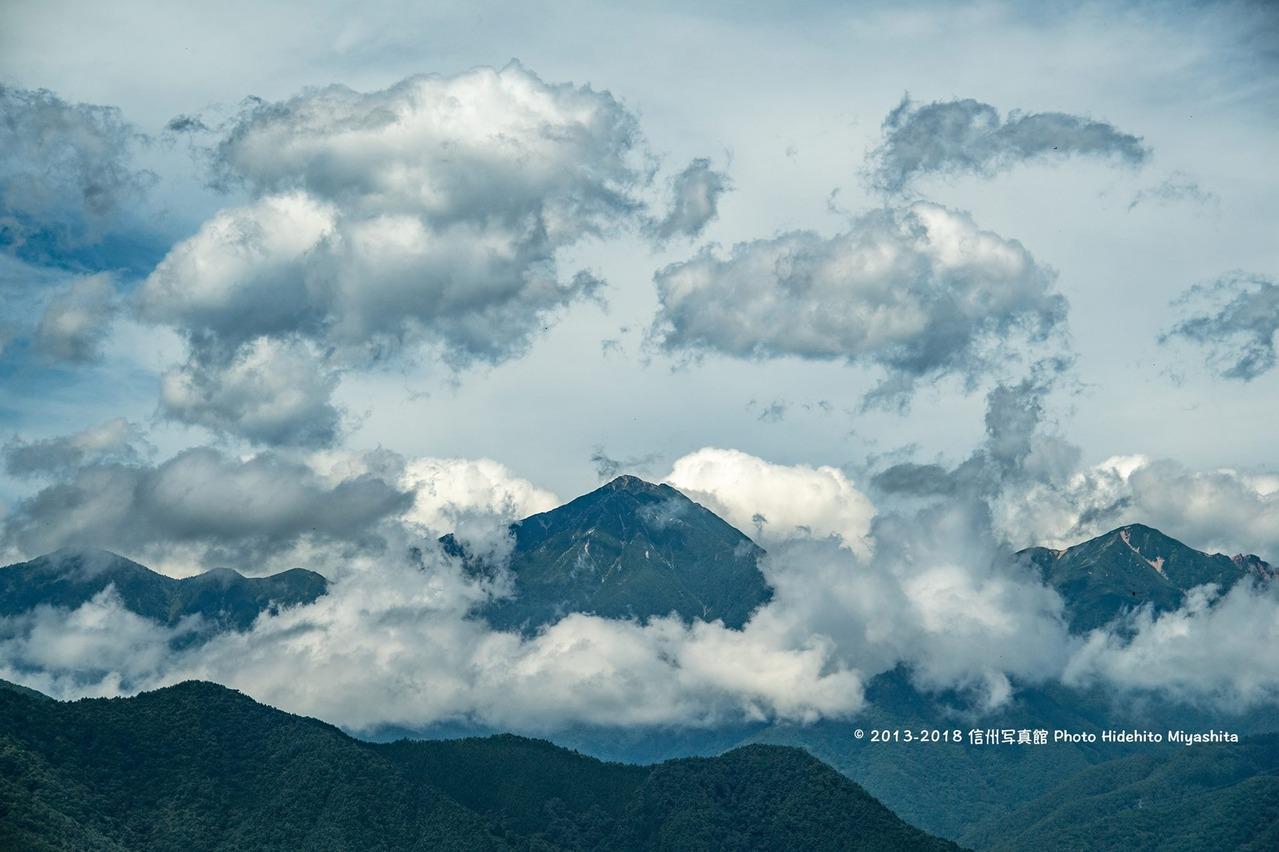 雲に包まれて…