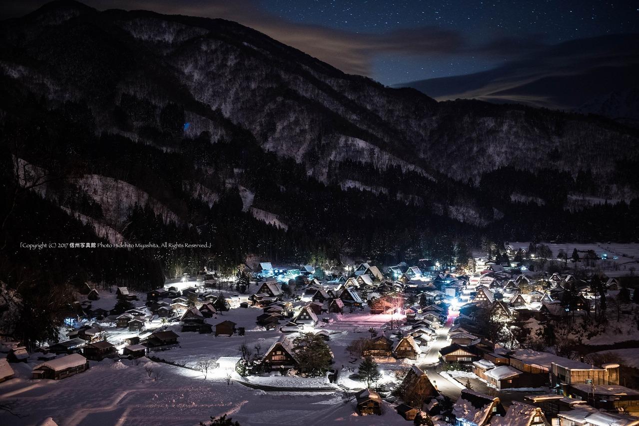 深夜の荻町