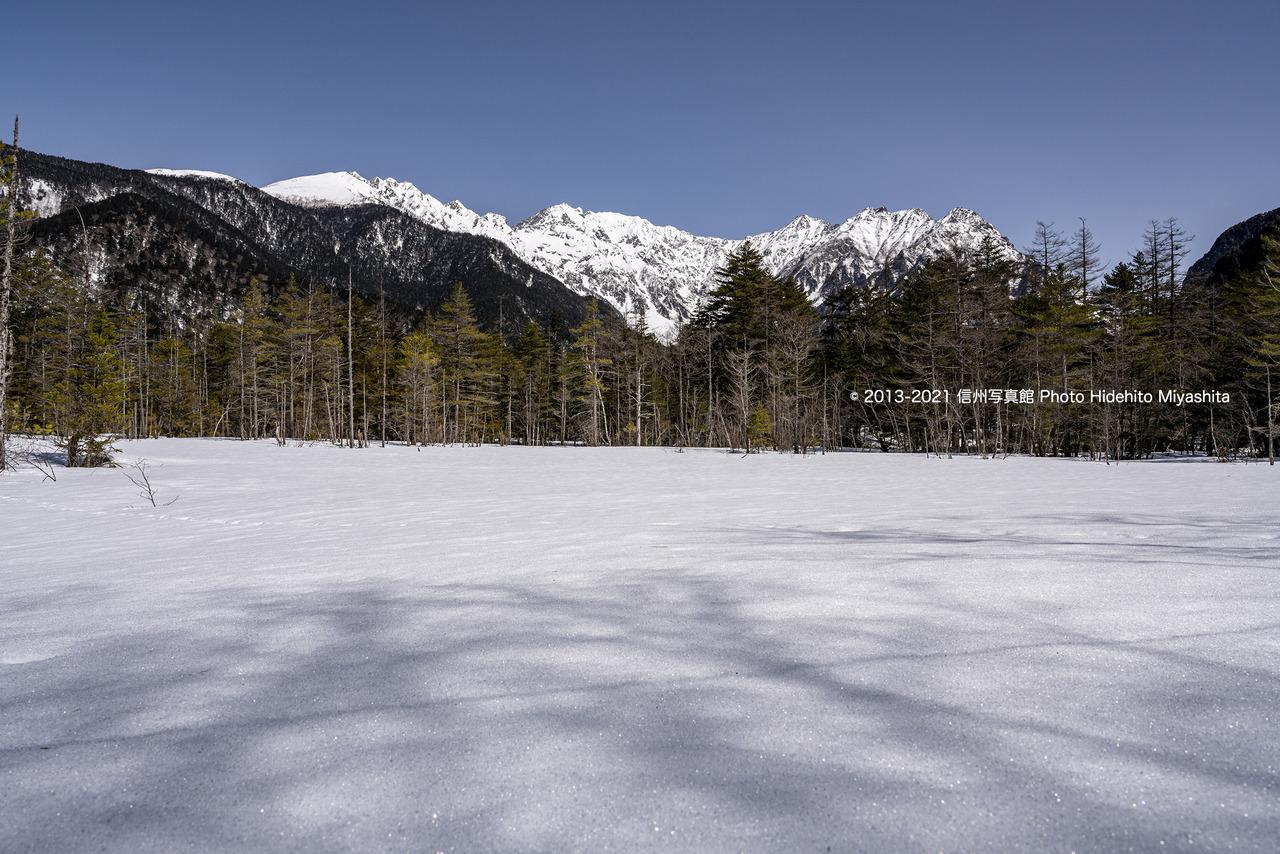 まだ白い田代湿原_20210317-_DSC1367