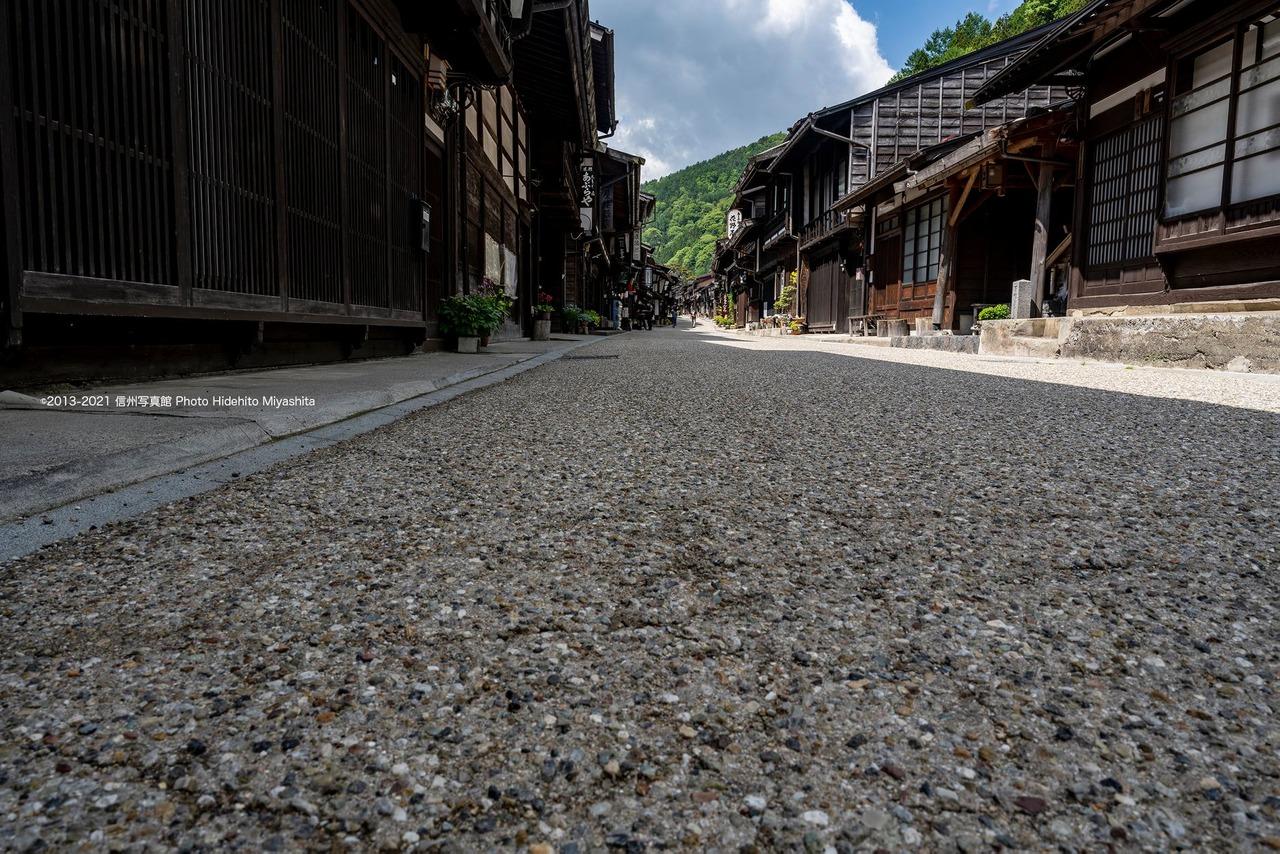 静かな奈良井宿