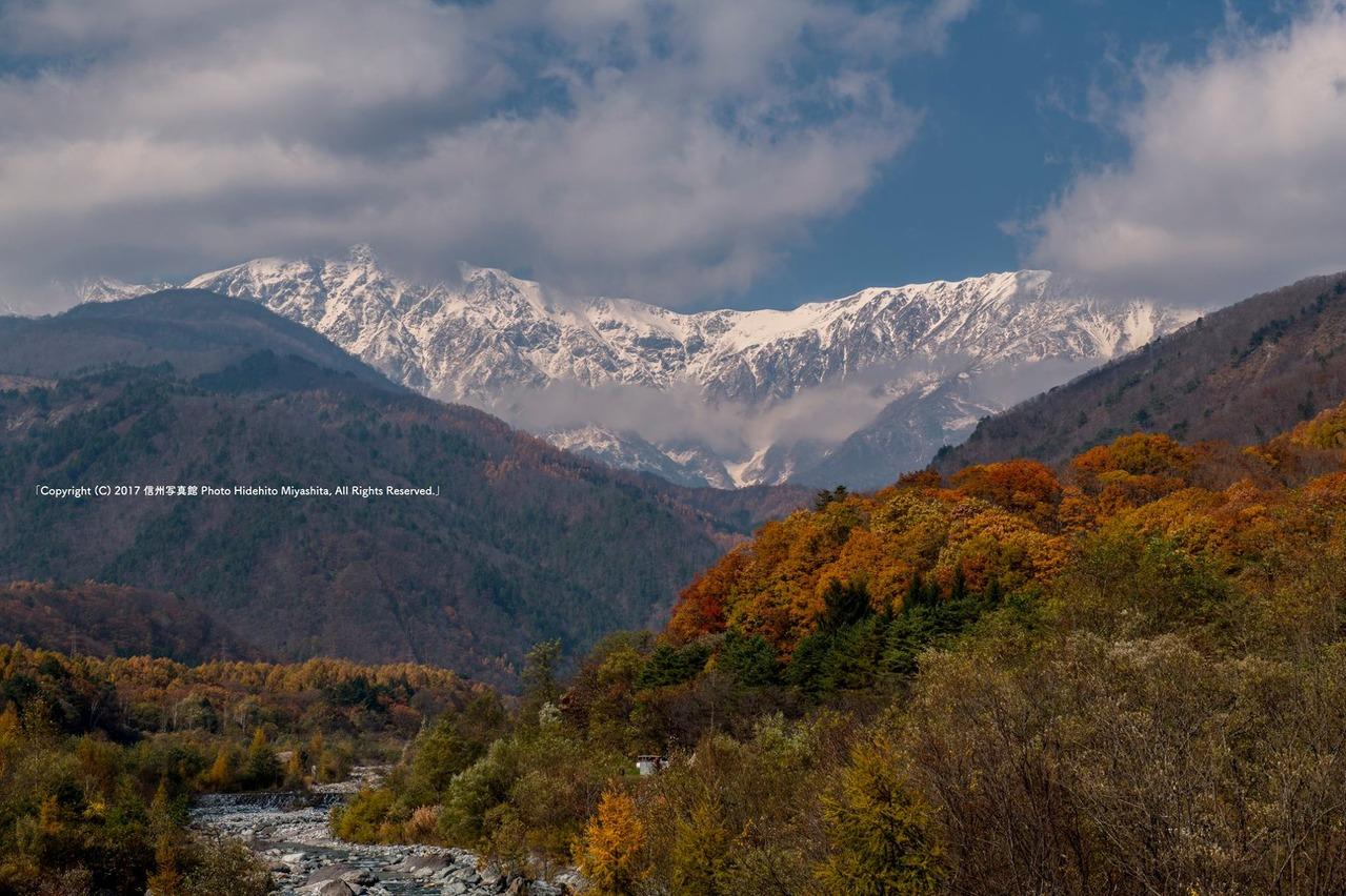 紅葉と白馬岳