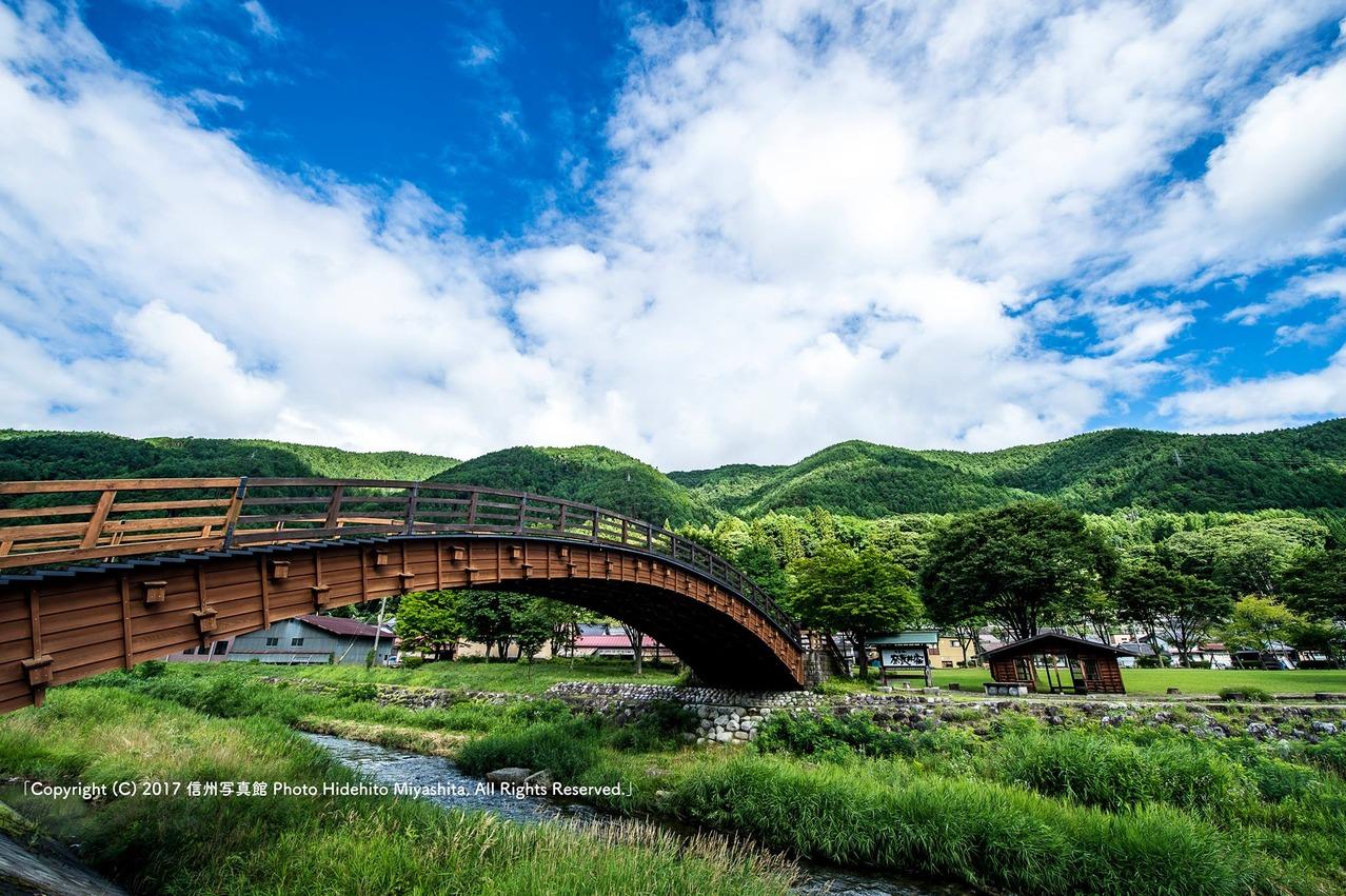 夏の奈良井大橋